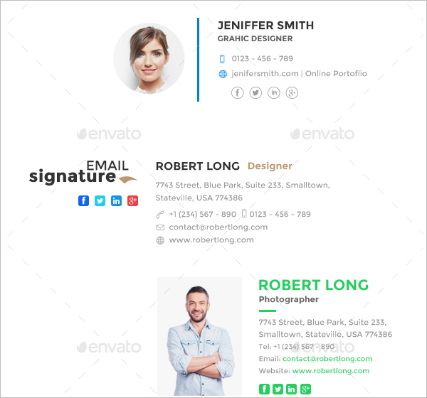 Email Signature Design Template