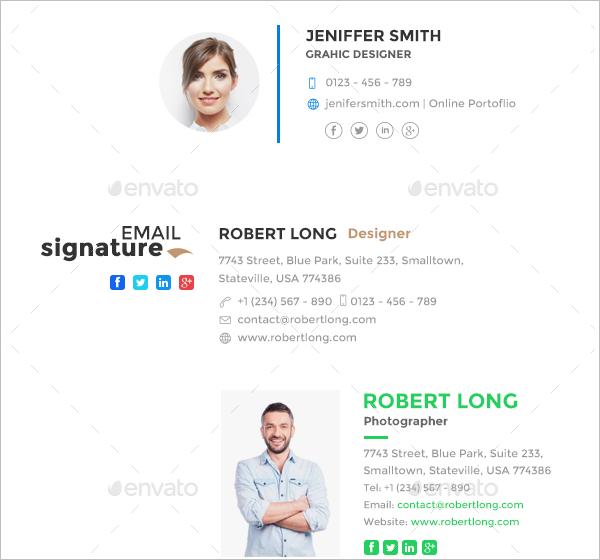 Email Signature Design Template