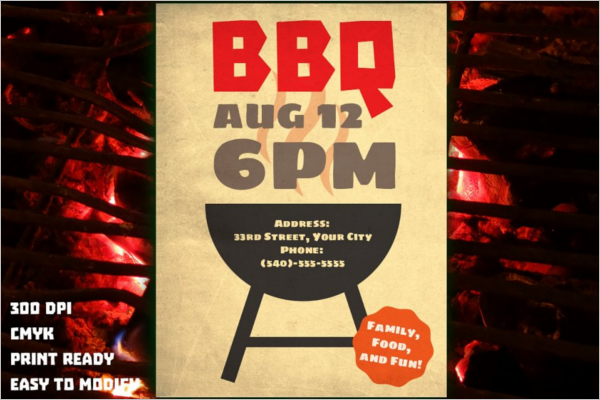 Employee BBQ Flyer Template