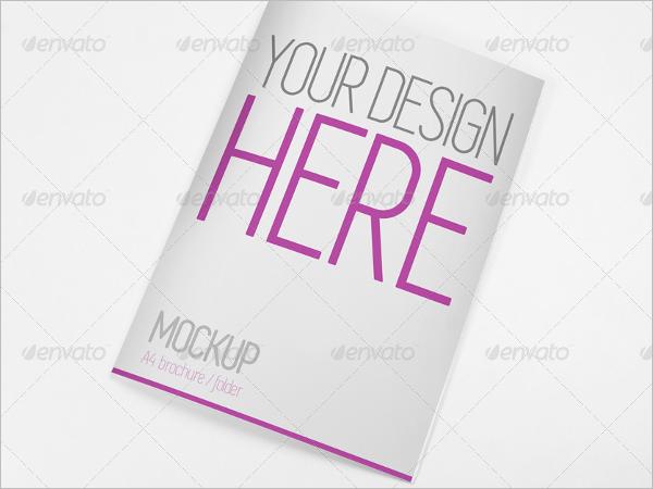 Empty Brochure A4 Mockup Design