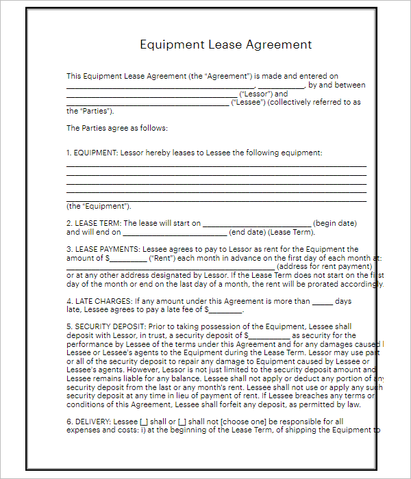 75+ Lease Templates Free Word, PDF, Doc Formats Download