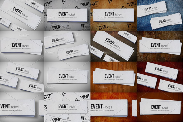 Event Ticket Mockup Design