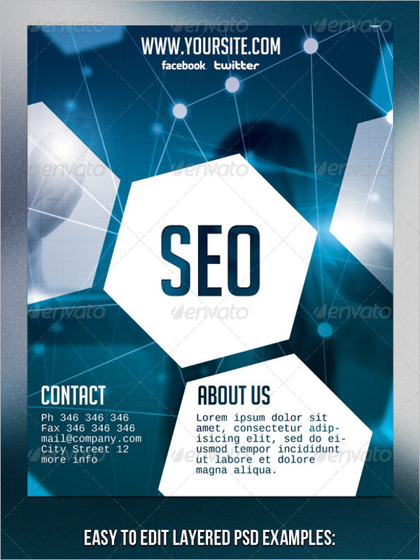 Example Of SEO Flyer Template