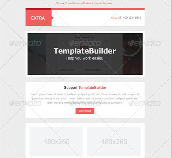 Extra Email Design Template