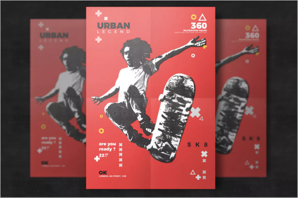 Extreme Sport Event Flyer PSD Template