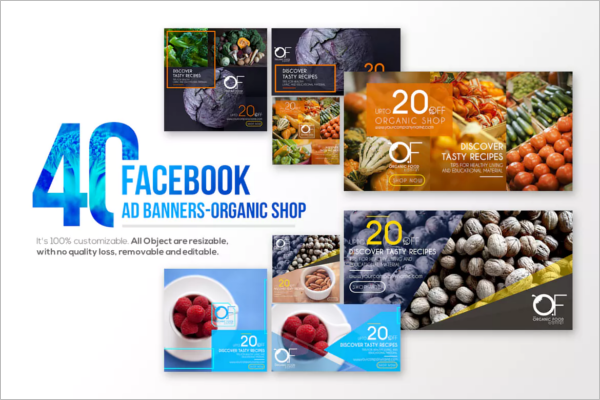 Facebook Banner Template For Food