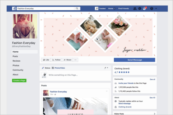Facebook Page Banner Template
