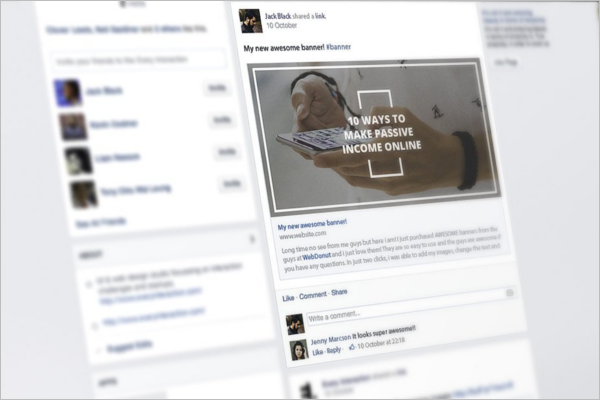 Facebook Webpage Banner Template
