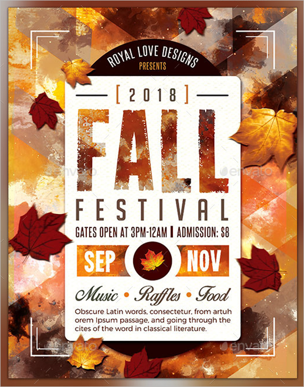 Fall Autumn Flyer Template