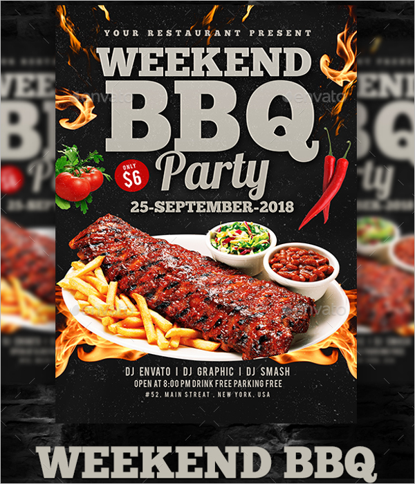 Fall BBQ Flyer Template