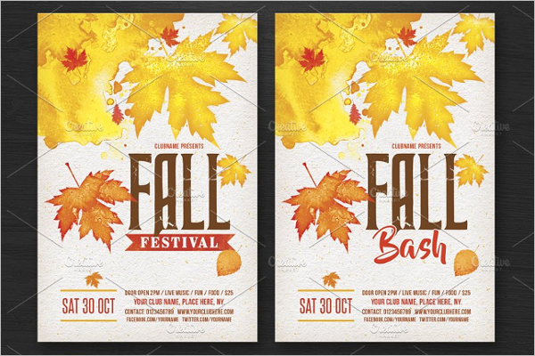 Fall Bash Flyer Template
