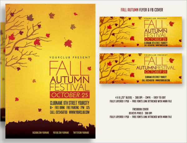 Fall Break Flyer Template