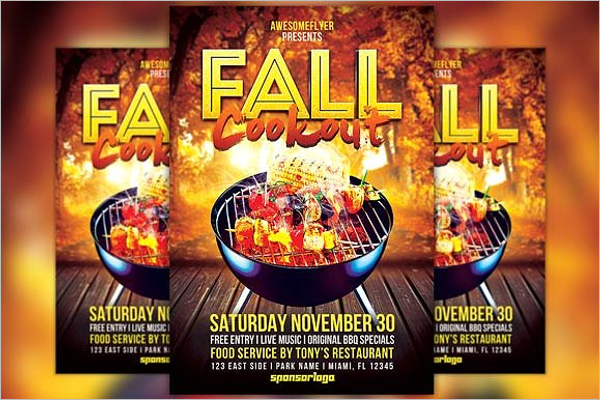 Photoshop Fall Flyer Template