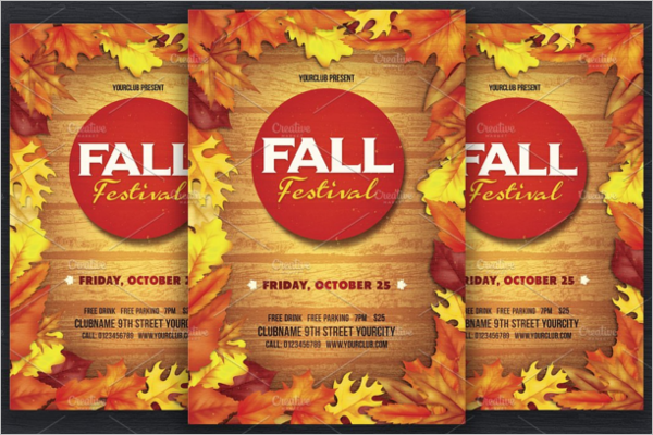 Fall Flyer Revival Template