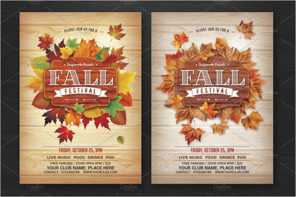Fall Flyer Template For MAC