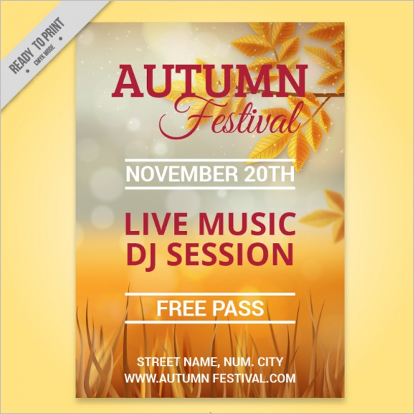 Fall Flyer Template Free Download