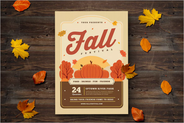 Fall Flyer Template Vector