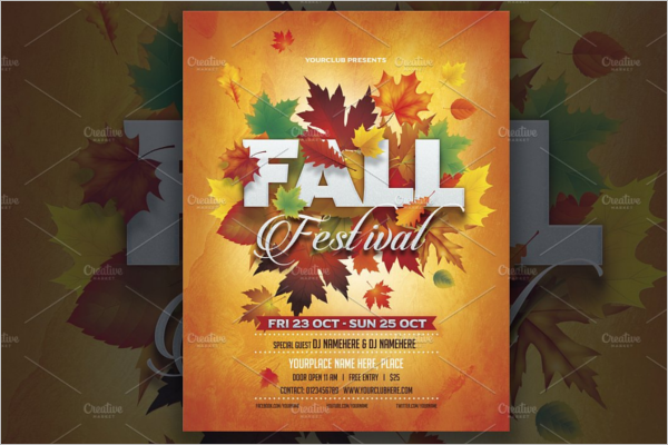 Fall Flyer Word Template