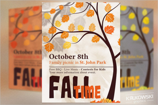Fall Picnic Flyer Template –
