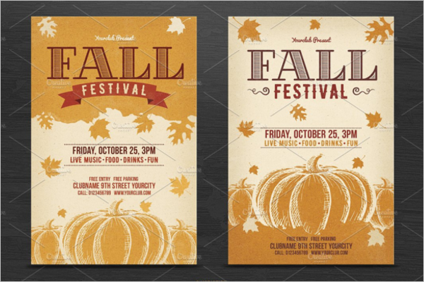 Fall Poster Template PSD