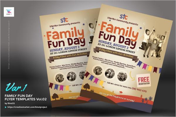 Family Event Flyer Design