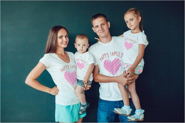 Family Pack T-Shirt Mockup Design