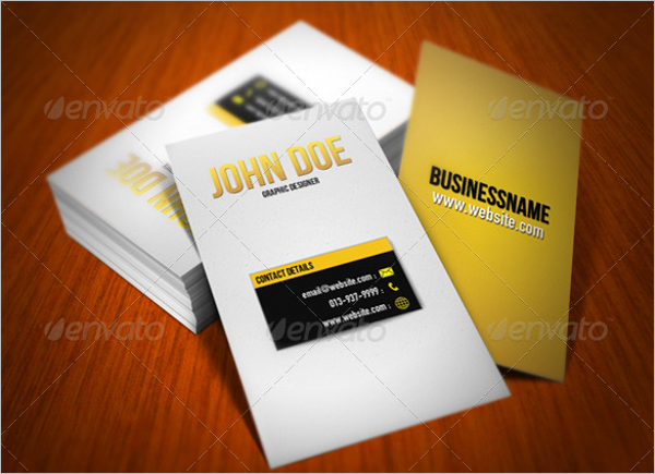 Fancy Yellow Business Card Design