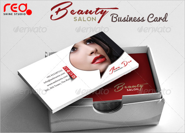 Fashion Beauty Parlour Business Card Template