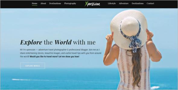 Fashion Blog Design Template