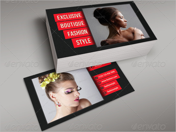 Fashion Business Card Print Template
