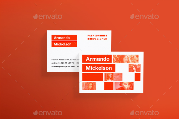 Fashion Designer Business Card Template