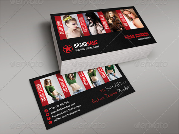Fashion Model Business Card Template