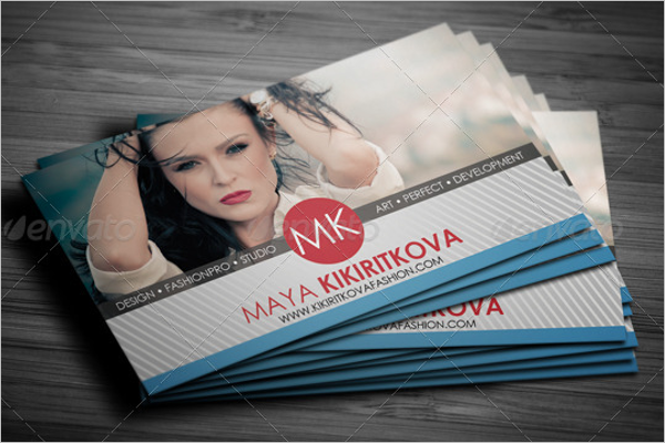 Fashion Show Business Card Template