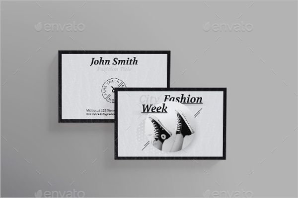 Fashion Week Business Card Design