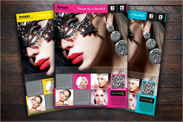 Fashionable Beauty Salon Flyer Template