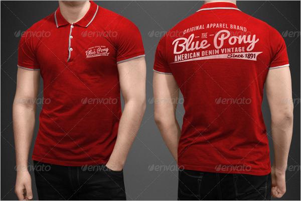 Fashionable Polo T-Shirt Mockup