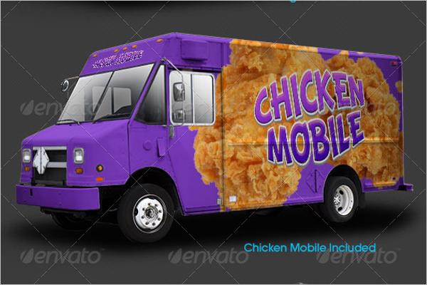 Fast Food Truck Mockup Template