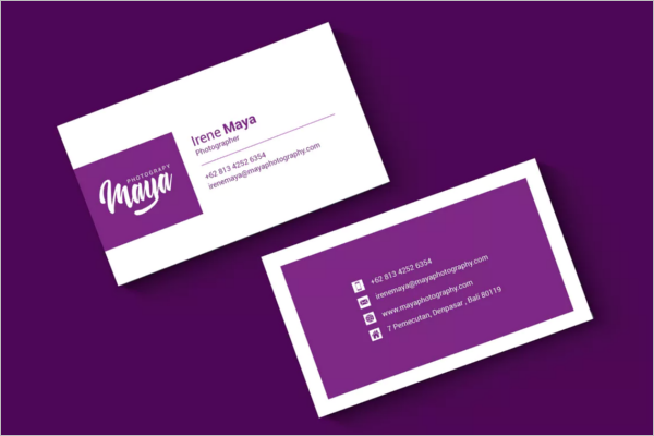 Feminine Photography Business Card Design