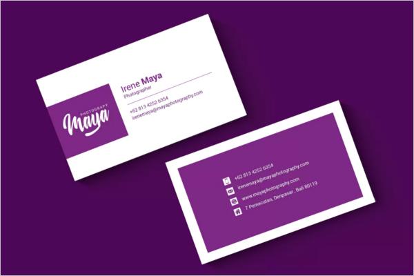 Feminine Photography Business Card Design