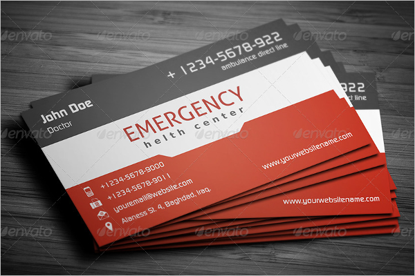 First Aid Business Card Template