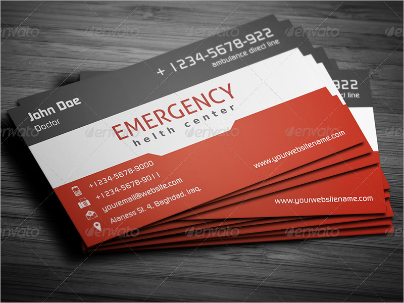 First Aid Clinic Business Card Design