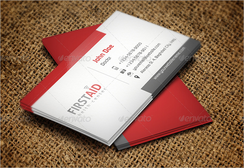 First Aid Hospital Business Card Template