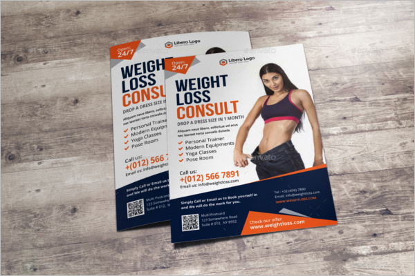 Fitness A5 Flyer Design