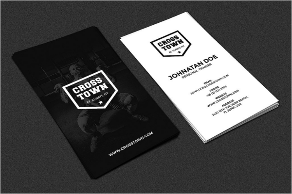 Fitness Business Card Design Template