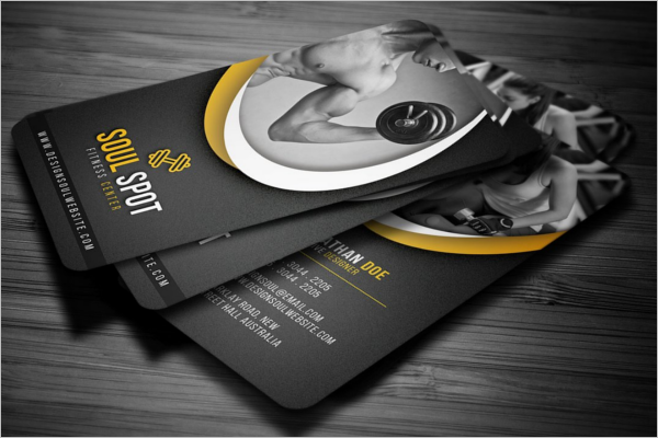 Fitness Promotion  Business Card Design