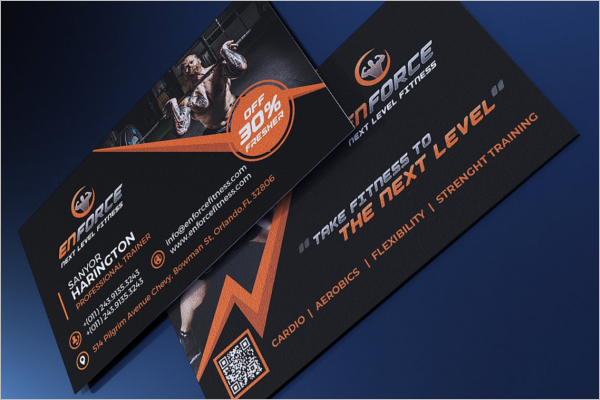 Fitness Sport Business Card Design