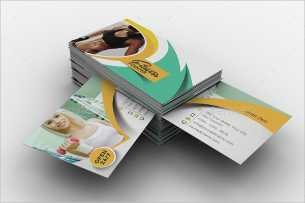 Fitness & Yoga Business Card Design