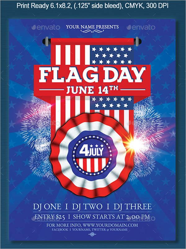 Flag Day Flyer Template