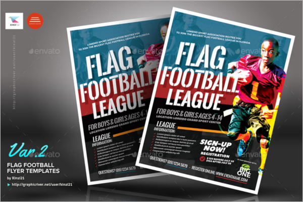 Flag Football Flyer Template