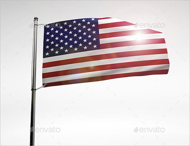 Flag Mockup Template